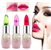 Hot Beauty Bright Flower Crystal Jelly Lipstick Magic Temperature Change Color Lip Balm Makeup Waterproof Lip Gloss Health & Beauty