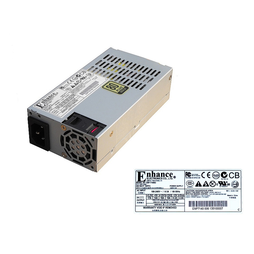 High efficiency 1U flex psu Rated 400Watts industrial Power Supply  ENP7140B2 ,80Plus original new enp 7025b flex mini 1u power supply
