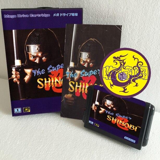 The Super Shinobi 16 bit SEGA MD Game Card Boxed With Manual For Sega Mega Drive For Genesis