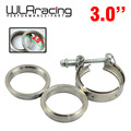 "WLR STORE-  New type 3"" VBand clamp flange Kit (Stainless Steel 201) For turbo exhaust downpipe"