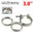 """WLR STORE-Novo tipo 3 """"Kit flange de fixação VBand (Aço Inoxidável 201) Para downpipe escape turbo"""