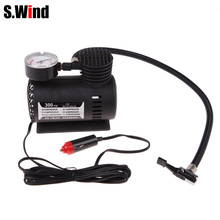 Auto Car Inflatable Pump 12V 300PSI Electric Portable Mini Car Air Compressor Tire Inflator for Car Bicycle Tire