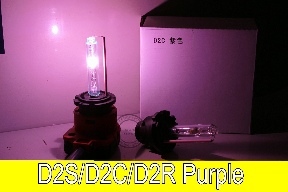 Free Shipping 2pcs D2S/D2C/D2R HID Xenon Replacement Light Lamp Bulb Car Headlight Lighting 35W PURPLE replacement d2c 35w 3000lm 6000k white light hid xenon lamp bulb headlight for car 2 pcs