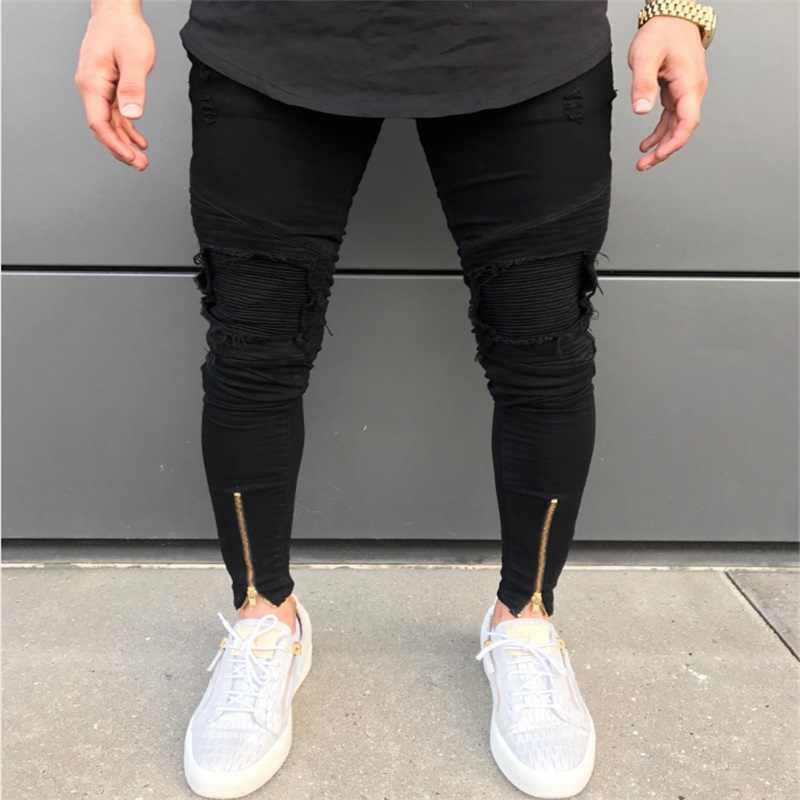 QoolXCWear Лидер продаж мужские дизайнерские джинсы черные джинсы мужские повседневные мужские джинсы скинни мотоциклетные высококачественные джинсовые брюки