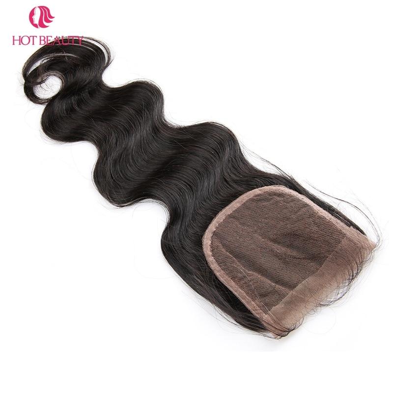 핫 뷰티 헤어 클로저 브라질 바디 웨이브 클로저 - 인간의 머리카락 (검은 색) - 사진 5