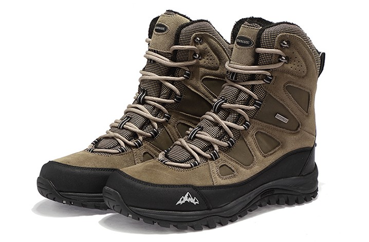 Men outdoor professional hiking boots male snow boots mens winter hiking shoes wearable waterproof genuine leather walking boots waterproof hiking shoes for men warm winter hiking boots waterproof snow boots for man outdoor hiking shoes female zapatos
