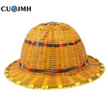 Bamboo Safety Helmet Summer Ventilate Construction Site Anti-smash Construction Engineering Safety Helmet Supervisor