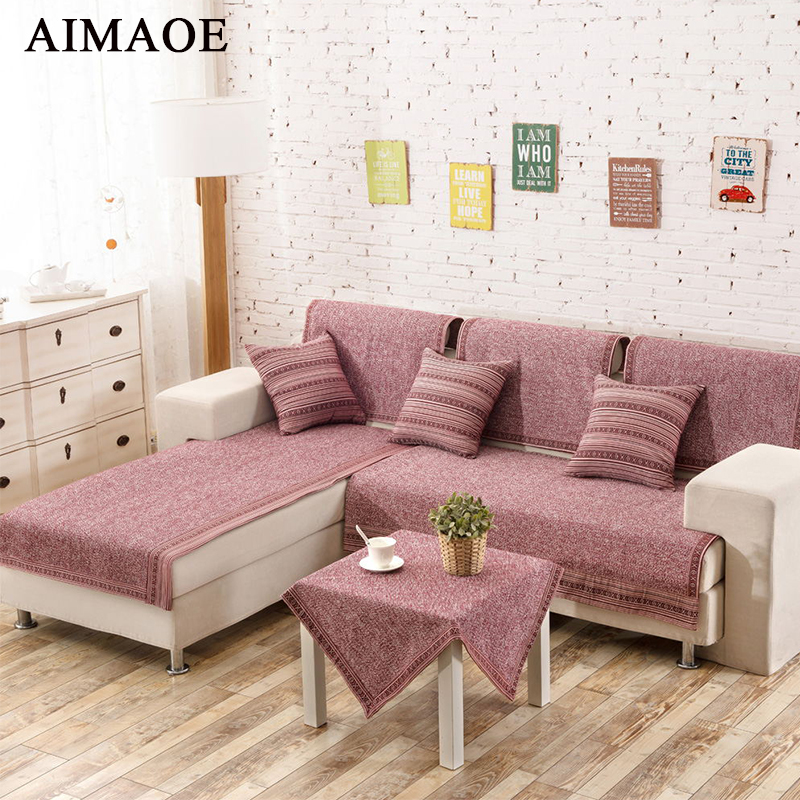 AILAQI Simple modern style geometric pattern cotton non slip fabric ...