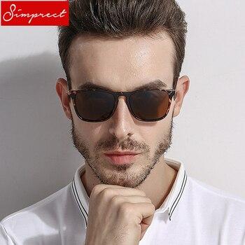 2f6bd08e1b Gafas De sol polarizadas SIMPRECT hombres 2019 Retro cuadrado UV400 alta  calidad HD conducción gafas De sol Vintage Lunette De Soleil Homme