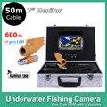 """7 """" TFT LCD подводная охота искатель монитор 12 шт. из светодиодов свет 600TVL камера под водой 50 м эндоскопа инспекционной камеры"""