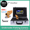 "7"" TFT LCD underwater fishing finder Monitor 12pcs LED Light 600TVL camera Underwater 50M Endoscope Inspection Camera"
