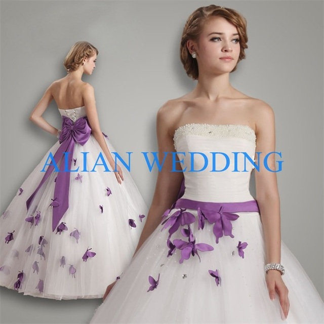 Real Picture Princess Ball Gown Wedding Dresses 2015 Korean Style ...