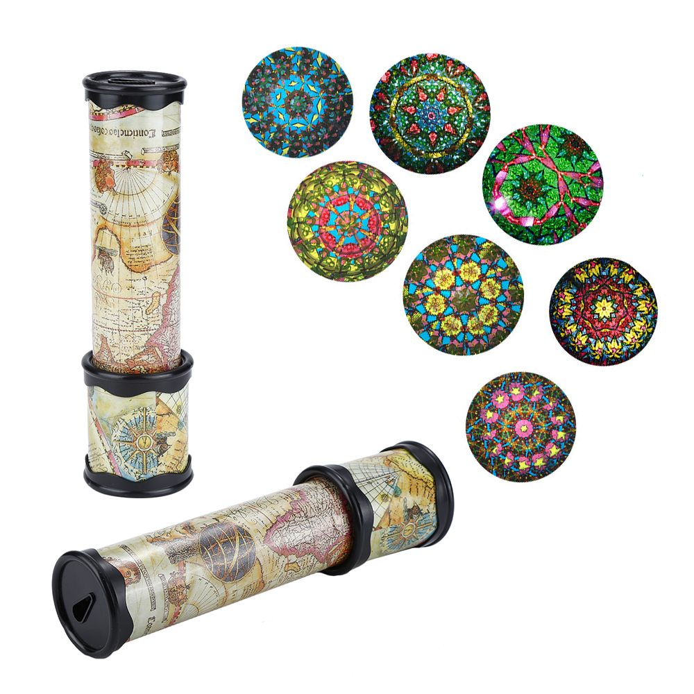 Scalable Rotation Kaleidoscope Magic Changeful Adjustable Fancy Colored World Toys For Children Autism Kid Puzzle Toy