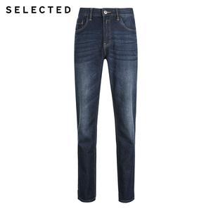 Image 5 - เลือกผู้ชายกางเกงยีนส์ฤดูใบไม้ร่วงฤดูหนาวผ้าฝ้ายเล็กน้อยยืดซีดจางตรงDenimกางเกงC