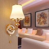 LED Crystal Wall Sconce E27 Loft Home Lighting Aisle Hotel Bedroom 110V 220V Wall Lamp Vintage Single Double Head 7 Wall Lamps