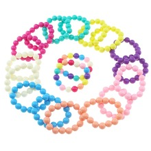 Детские Браслеты Девушка акрил имитация жемчуга с браслет подарок на день рождения ювелирные изделия Детская игрушка косплей аксессуар