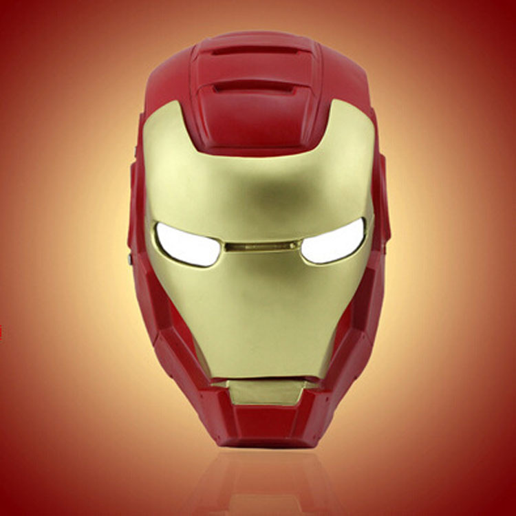 High quality Iron Man Helmet The Avengers Halloween mask ironman Led adult party COSplay masks Carnaval League of Heroes