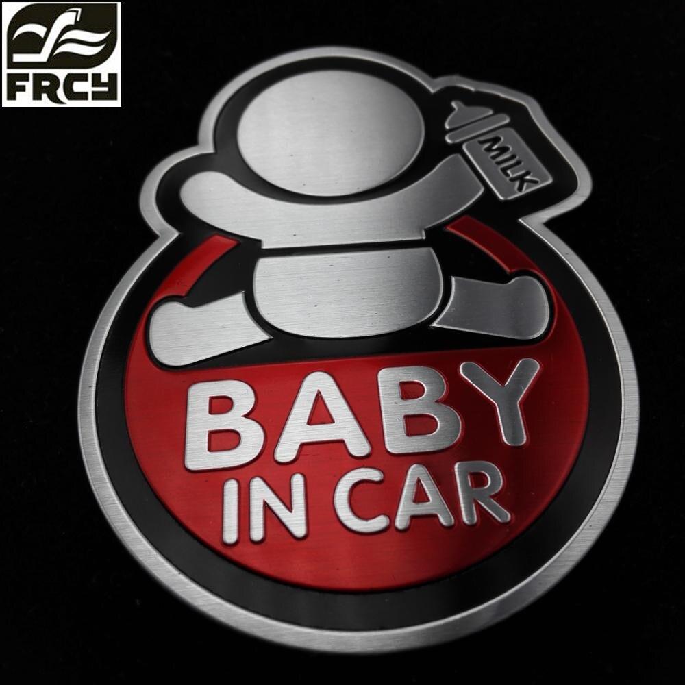 baby in car aluminum sticker For All Cars Cruze Opel Mazda Peugeot Nissan qashqai Toyota Rav4/Corolla car-styling