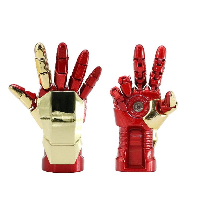 Avengers Iron Man Hand Cle USB Flash Drive 64GB 128GB Pen Drive 32GB Pendrive 16GB Memory Stick 2.0 Gift