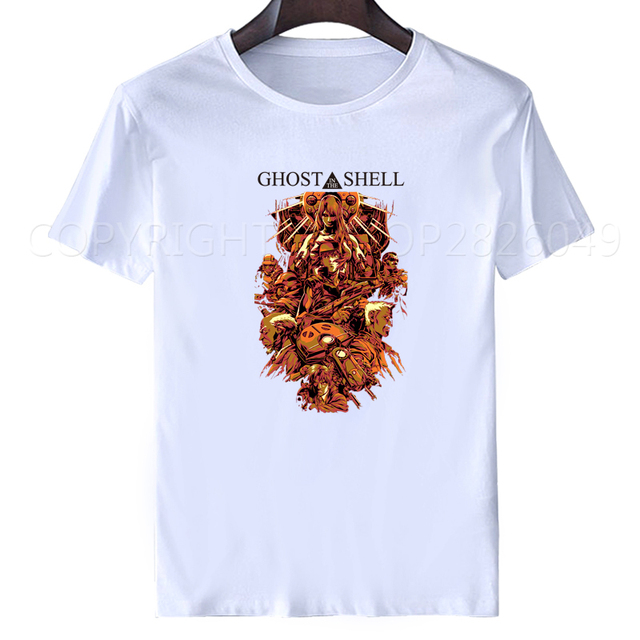 Ghost במעטפת T חולצה Kusanagi מוטוקו STAND לבד מורכב וירוס האק יפן חמה אנימה DIY חולצה עבור טי XXXL ירך הופ