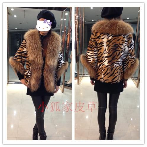 New Arrival Russian Fashion Women Real Fur Coat Plus Size