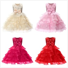 2019 New Princess Dress 6 colors Girls Party Wear Petals Evening Gown Children's Costume In Girl Clothing Kids Wedding Party