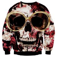 Our Wings New Arrivals Hip Hop Hoodies Men Women Sweatshirts 3d Print Glasses Roses Skull Unisex Pullovers Brand Hoodies