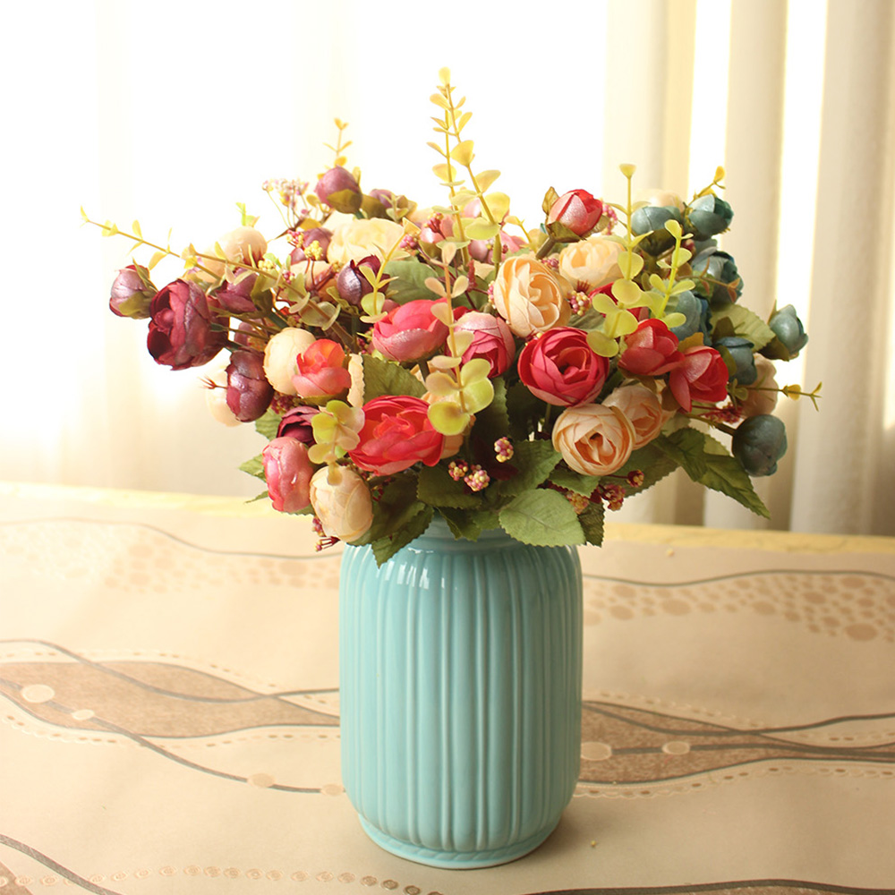 Popular artificial flowers rose blue small buy cheap artificial artificial flowers rose blue small izmirmasajfo Choice Image