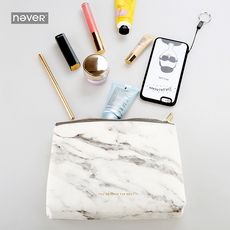 Never Marble Edition Big Pencil Bag Portable File Bag Office Leather Accessories Girls Business Creative Gifts Stationery Store segal business writing using word processing ibm wordstar edition pr only