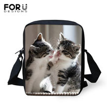 FORUDESIGNS Cute Baby Cats Prints Kawaii Animal Women Messenger Bag Crossbody for Purse Small Phone Coin Bags Handbags