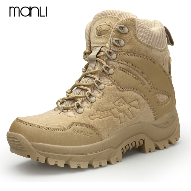 Winter/Autumn Army Men's Military Outdoor Wear-resisting Non-slip Desert Shoes Male Climbing Combat Hunting Snow Tactics Boots