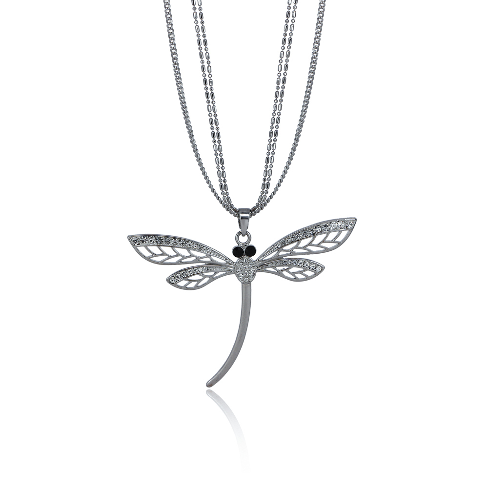 Long Sweeter Chain Dragonfly Pendant Long Necklace Christmass