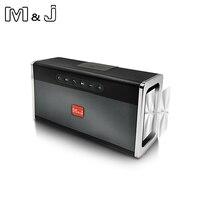 M&J Portable Bluetooth Speaker Wireless Loudspeaker 10W Stereo Subwoofer Heavy Bass Speakers Music Player FM Radio TF USB