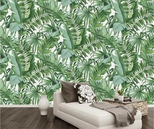 beibehang Custom Wallpapers 3d Photo Stereo Murals Hand Painted Tropical Rainforest papel de parede Plant Background Wall paper