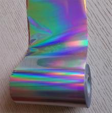 Голографическая фольга горячего тиснения фольгой нажмите на бумаге или пластик серебристый обычный цвет 16 см x 120 м Горячая фольга