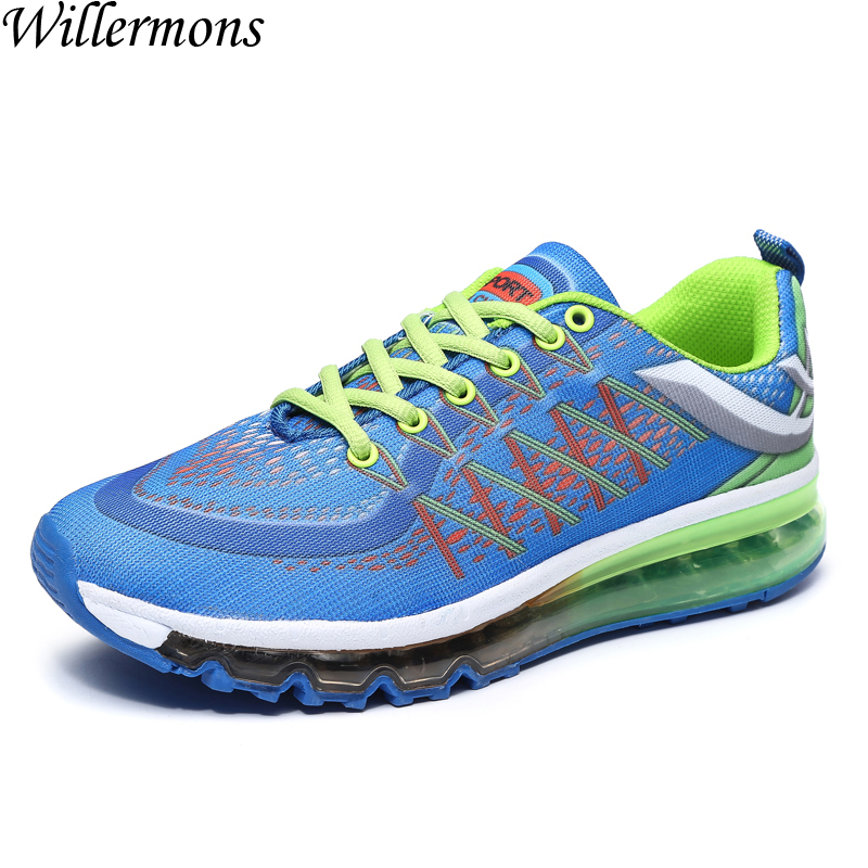Brand New Men's Outdoor All Air Cushion Running Sports Shoes Men Athletic Walking Sneakers Shoes for Jogging Chaussures Hombre apple brand men breathable air mesh running shoes weaving outdoor athletic zapatillas sport jogging sneakers walking shoes