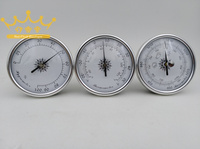 Silver metal face Precision Aneroid 72mm Diameter Round Dial Trac Outdoor Fishing Barometer hygrometer thermometer three piece