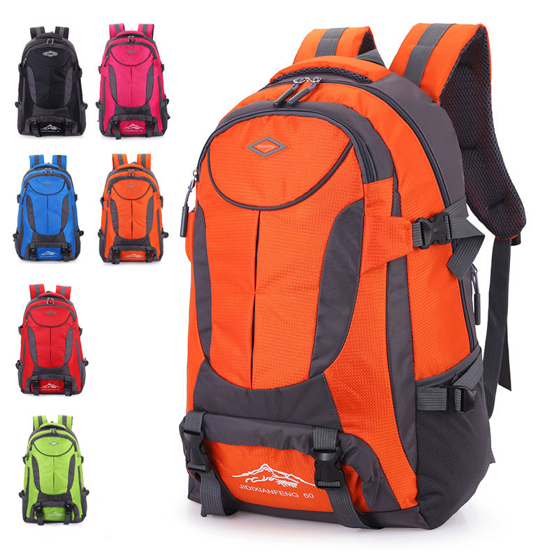Outdoor adventure sports backpack mountaineering climbing camping Hiking cycling waterproof 55L large capacity travel backpack 70l ultralight large outdoor backpack sports bag camping hiking mountaineering backpack travel climbing camping waterproof bag
