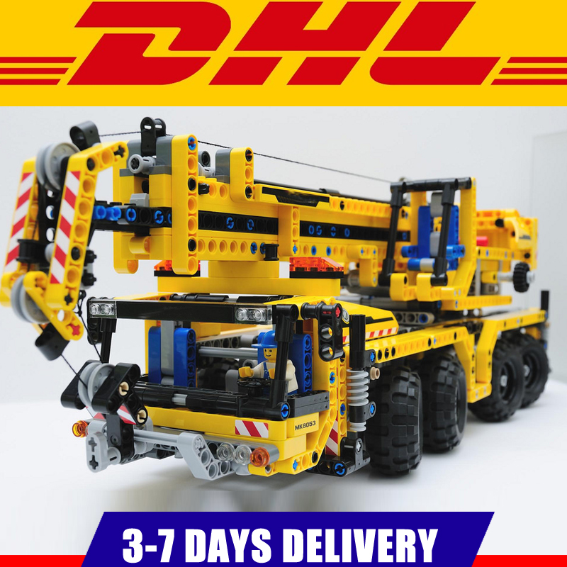 IN Stock 2018 Lepin 20040 Technic Mechanical Series The Moving Crane Educational Building Blocks Bricks Toys Model Gift 8053 lepin 20076 technic series the mack big
