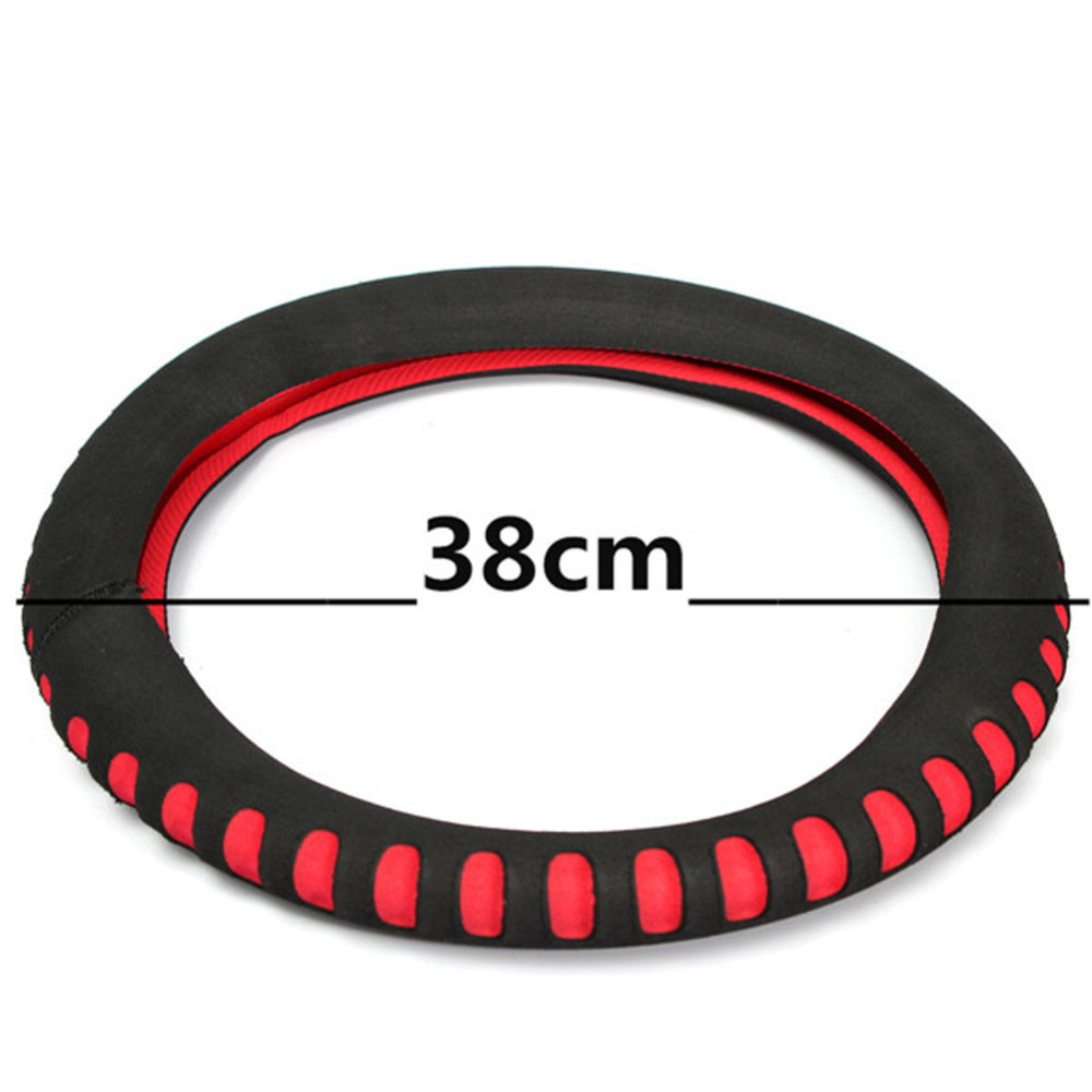 EVA Punching Universal Car Steering Wheel Cover Diameter 38cm Automotive Sup High Quality Car Styling Accessories 3 Colors 11
