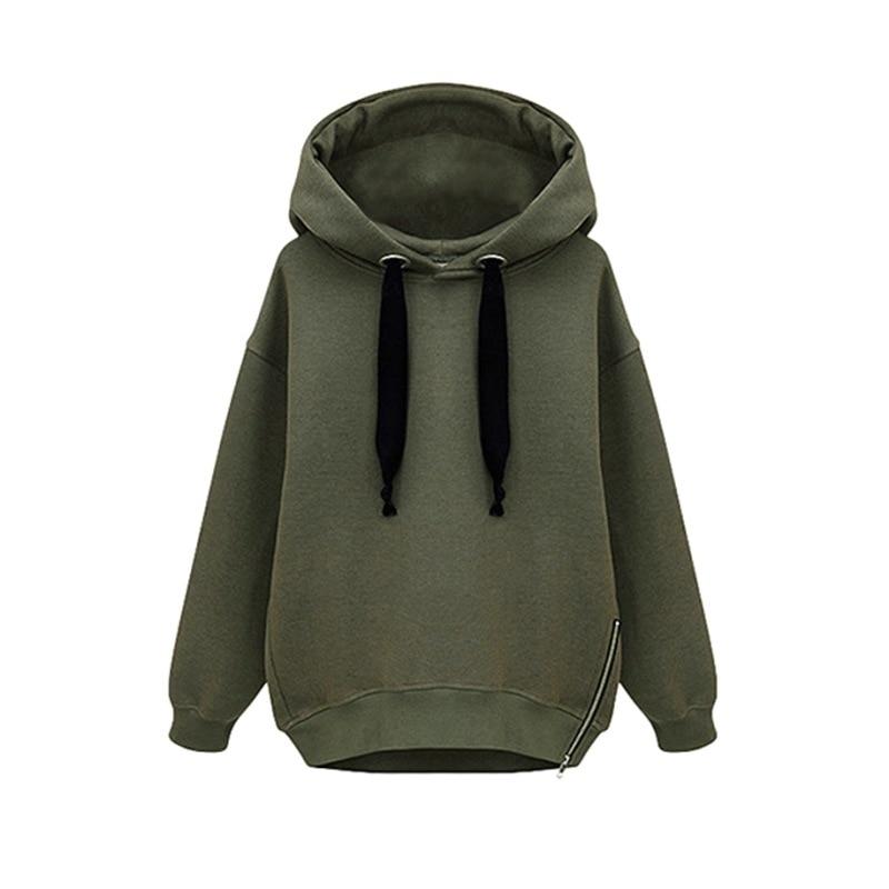 Korean Fashion Streetwear Hoodies Women Long Sleeve Sweatshirt Plus Size Womens Clothing Autumn Winter Coat Oversized Hoodie W12