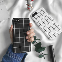 Simple Fashion Black White Grid Phone Cases For iph