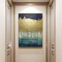 Aritist Large 100% pure hand-painted abstract oil paintings on canvas wall art golden pictures for living room home decoration