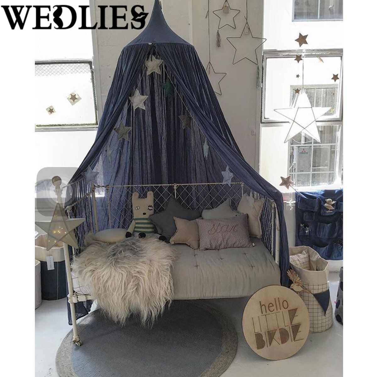 Mantle Curtains Valance Cotton Canopy Bed Mosquito Netting Baby Kids Bedding Net Reading Play Tents Dark  sc 1 st  AliExpress.com & Online Get Cheap Camping Beds with Mosquito Nets -Aliexpress.com ...