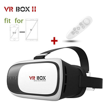 2016 Profesional CAJA de VR II 2 Gafas 3D VRBOX Versión Mejorada de Realidad Virtual 3D Video Glasses + mando a Distancia Bluetooth Para iPhone