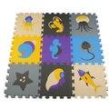 Conjunto Seguro EVA Esteira do Enigma Da Espuma Dos Desenhos Animados Esteira do Jogo para Crianças 30*30*1.0 cm Macio Bloqueio Piso Mat tepete de eva oceano