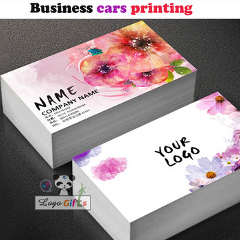 Beauty design custom business cards with White Paper 300gsm printing with your business information in double side 1000pcs/lot
