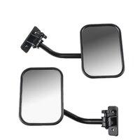 Portas fora espelhos para jeep wrangler tj  jk  lj liberação rápida espelhos laterais preto 2 pacote