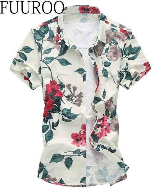 Men Shirt 2016 Summer Hot Sale Men Shirts Short Sleeve Slim Fit High Quality Print Beach Casual Shirts  CBJ-Z6542