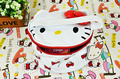 Kawaii Barrel Shape 18*10CM PU Hello Kitty Lady's Handbag Cosmetics Bag & Holder Pouch Makeup Beauty BIG Storage BAG BOX Case